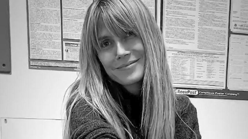 Heidi Klum nach der Blutabnahme, Dezember 2019