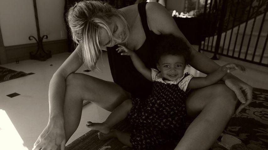 Heidi Klum mit ihrer Tochter Lou