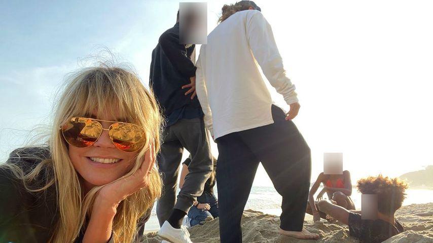 Heidi Klum verbringt mit Tom und Kids Familientag am Strand