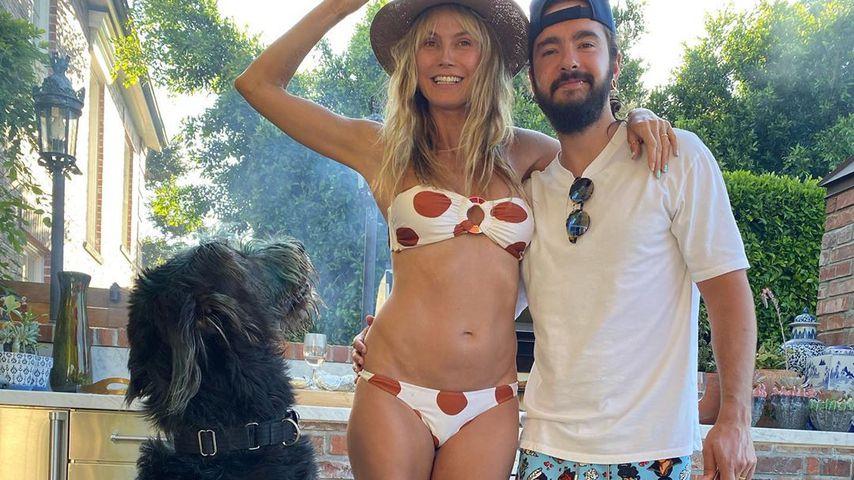 Heidi Klum, Tom Kaulitz und ihre beiden Hunde im September 2020