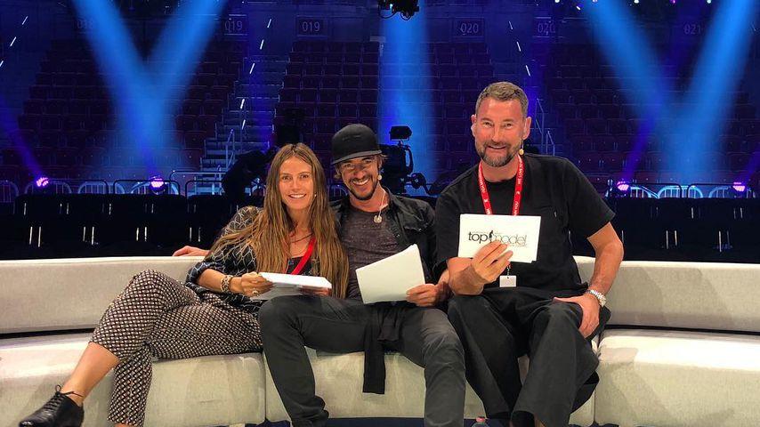 """Heidi Klum, Thomas Hayo und Michael Michalsky bei den Proben für """"Germany's next Topmodel""""-Finale"""