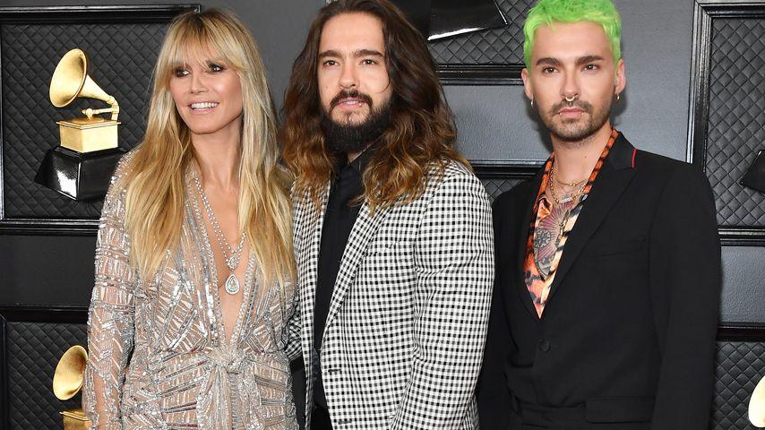 Heidi Klum, Tom Kaulitz und Bill Kaulitz bei den Grammy Awards