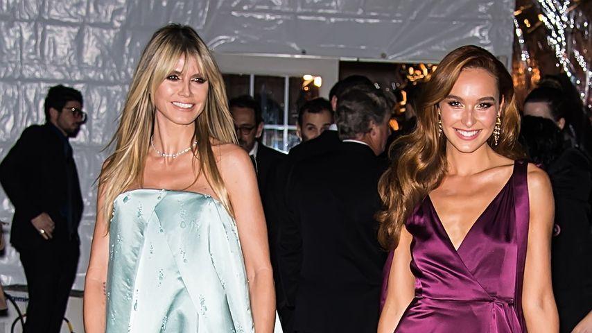Heidi Klum und GNTM-Siegerin Jacky bei der amfAR-Gala in New York