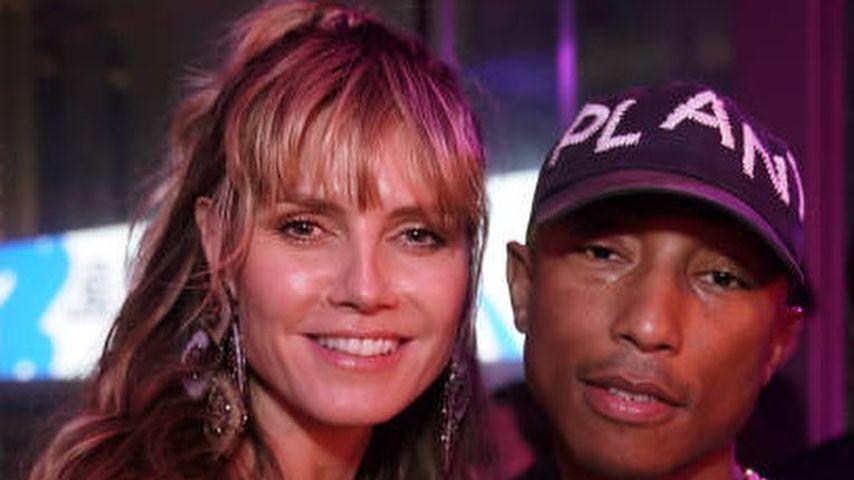 Heidi Klum und Pharrell Williams