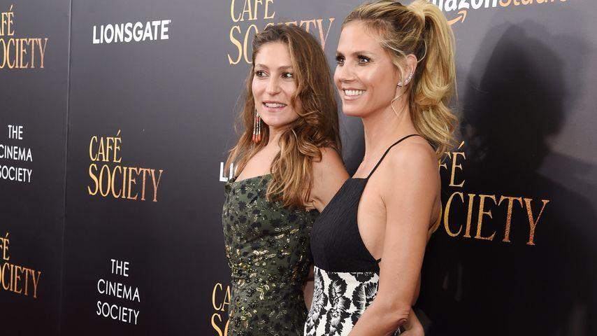 """Heidi Klum (rechts) und Stella Schnabel bei Premiere von """"Cafe Society"""""""