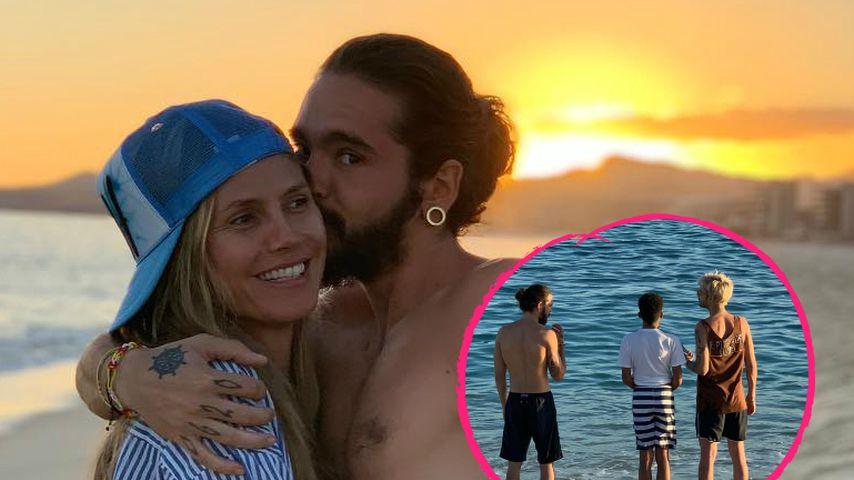 Heidi & Tom: Süßer Familienausflug mit Kids & Bill am Strand