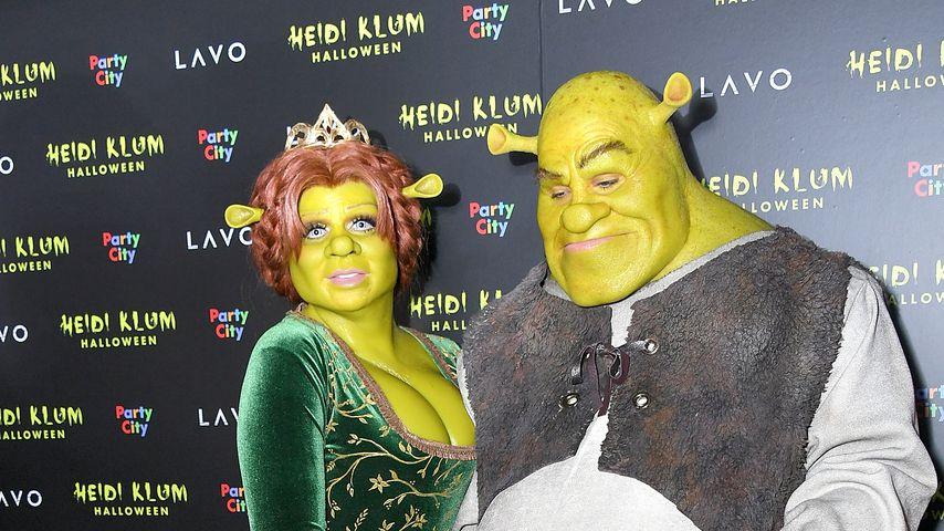 Heidi Klum und Tom Kaulitz als Fiona und Shrek im Oktober 2018 in New York