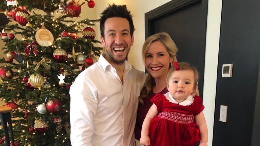 Heidi Range mit ihrem Mann und ihrem Kind