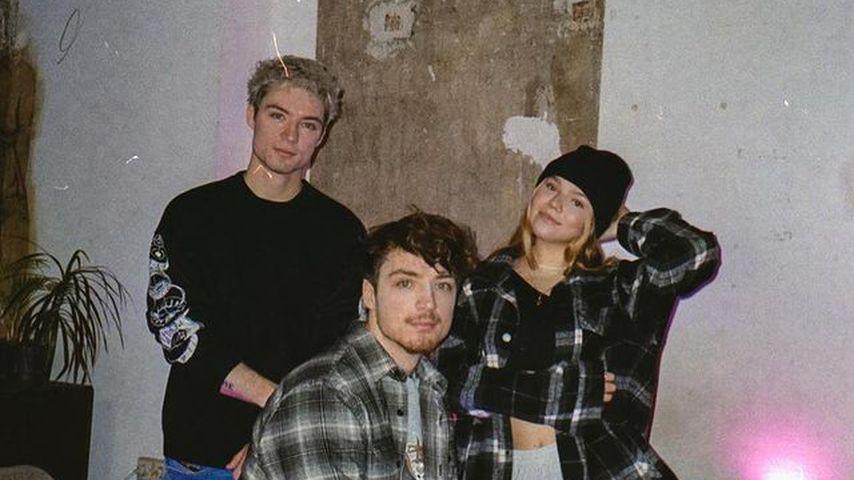 Heiko und Roman Lochmann mit Faye Montana