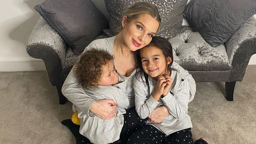 Helen Flanagan mit ihren zwei Kindern