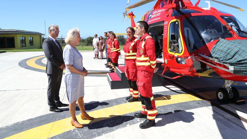 Herzogin Camilla bei ihrem Besuch der Cornwall Air Ambulance 2020