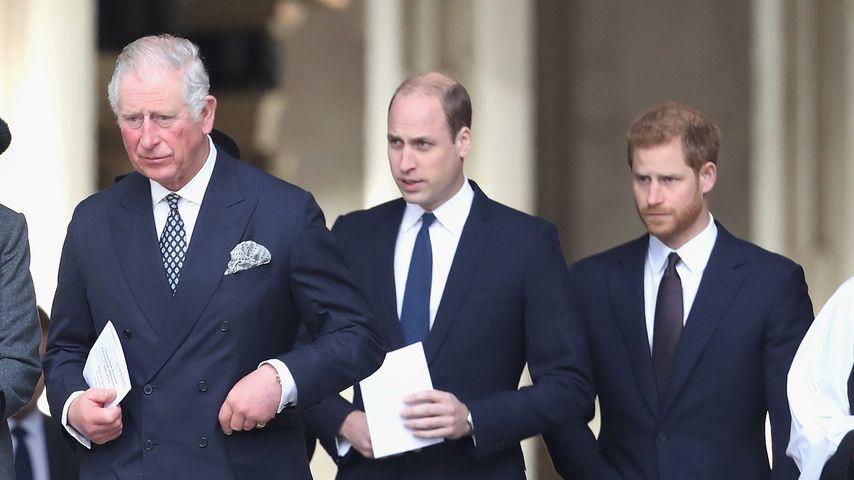Herzogin Camilla, Prinz Charles, Prinz William und Prinz Harry