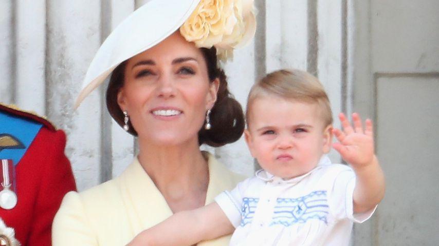 Herzogin Kate und Prinz Louis bei der Trooping the Colour-Parade