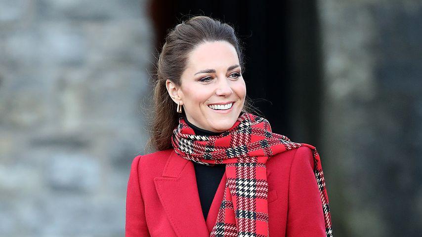 Herzogin Kate besucht das Schloss in Cardiff