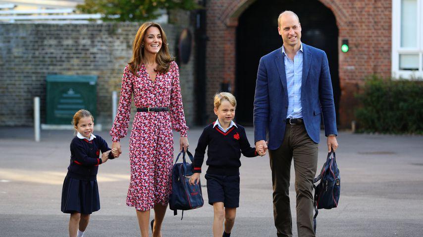 Herzogin Kate und Prinz William mit ihren Kindern Charlotte und George, September 2019