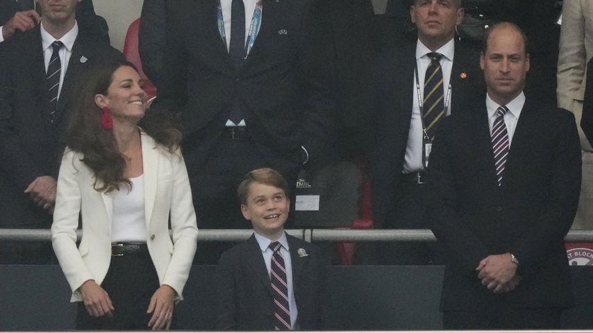 Herzogin Kate, Prinz George und Prinz William beim EM-Finale, 2021