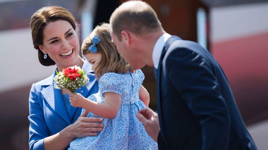 Herzogin Kate, Prinzessin Charlotte und Prinz William