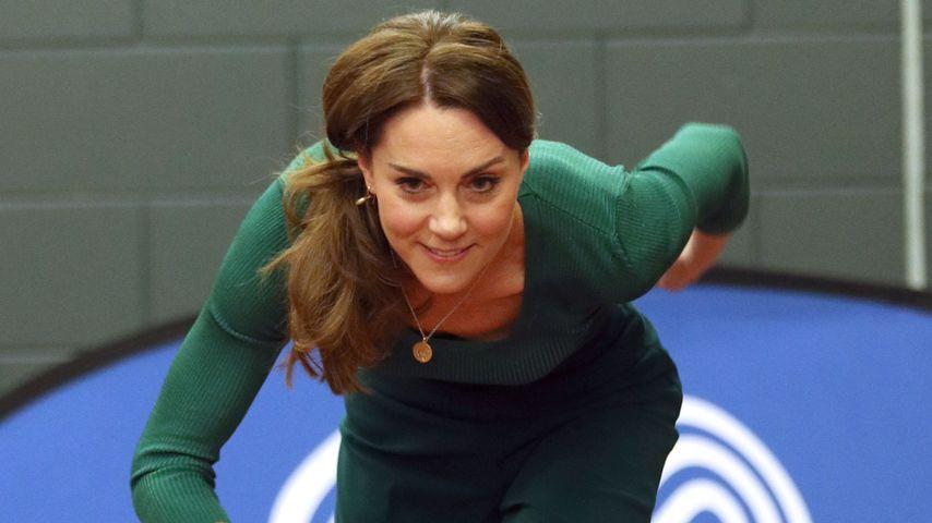Herzogin Kate läuft beim SportsAid-Event in London im Februar 2020