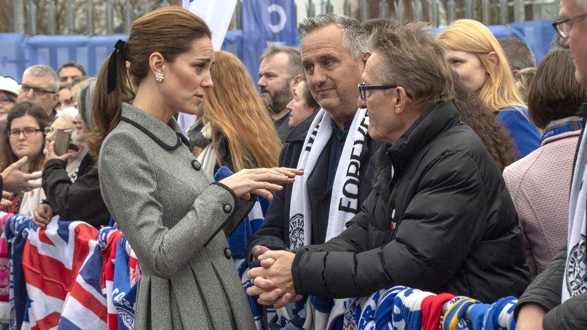 Herzogin Kate und Leicester City-Fans