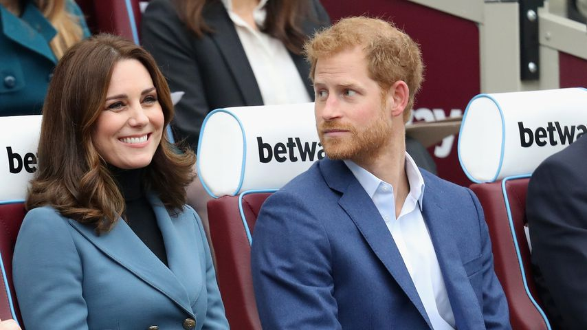 Herzogin Kate und Prinz Harry in London