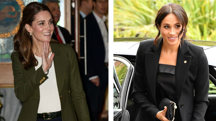 Anzughose statt Jeans: Kopiert Kate etwa Meghans Look?