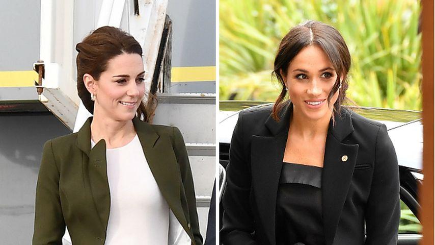 Klaut Herzogin Kate hier etwa Herzogin Meghans Look?