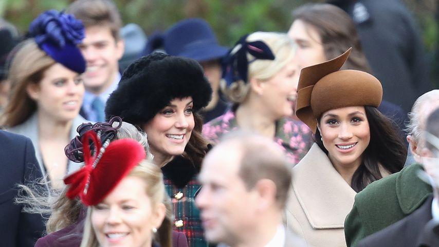 Herzogin Kate und Herzogin Meghan in London 2017