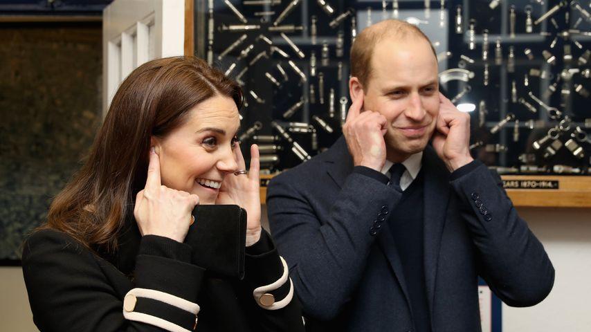 Herzogin Kate und Prinz William zu Besuch beim Unternehmen Acme Whistles
