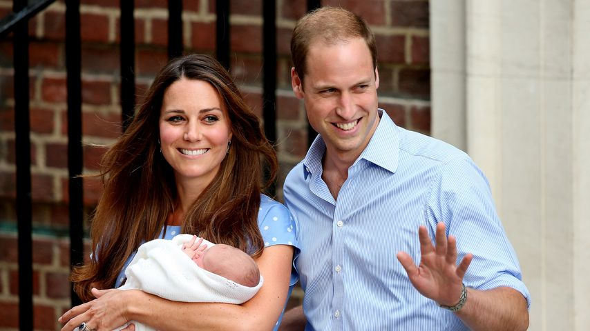 Herzogin Kate und Prinz William mit Prinz George