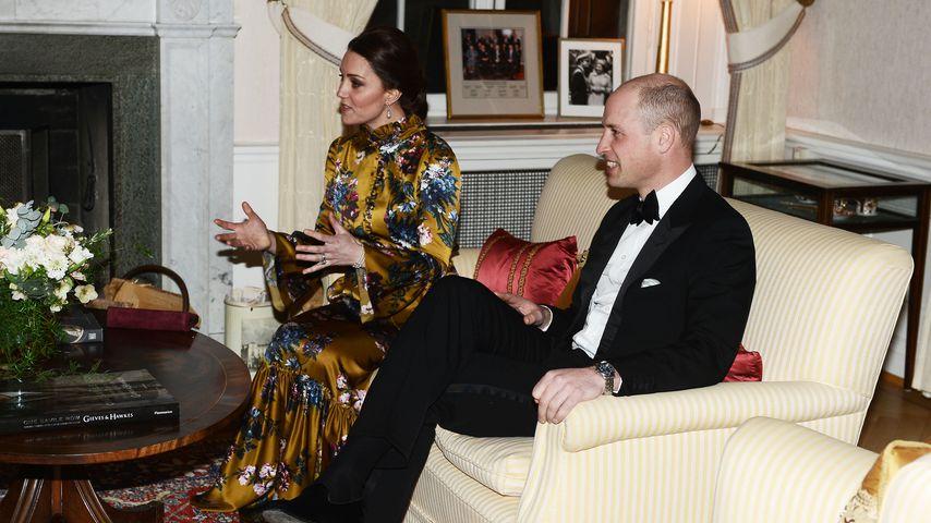 Herzogin Kate und Prinz William in Stockholm