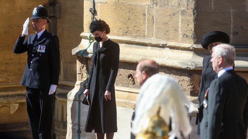 Herzogin Kate vor Prinz Philips Trauergottesdienst