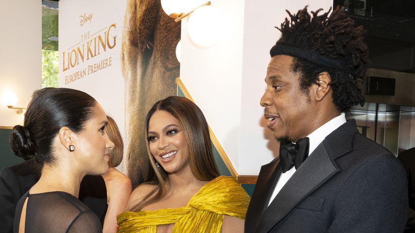 """Herzogin Meghan, Beyoncé und Jay-Z bei der Premiere von """"Der König der Löwen"""" in London"""