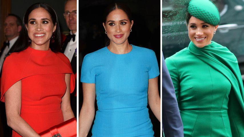 Bunter Royal-Abschied: Das bedeutete Meghans Kleiderwahl!