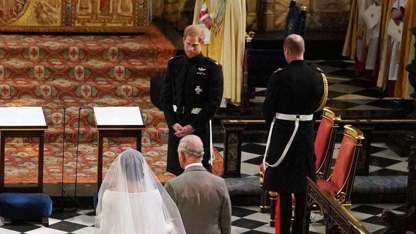 Herzogin Meghan, Prinz Charles und Prinz Harry bei der royalen Hochzeit