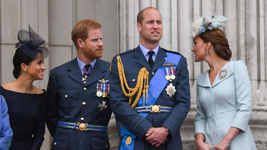 Herzogin Meghan, Prinz Harry, Prinz William und Herzogin Kate