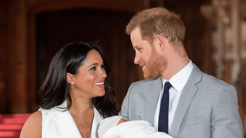 Herzogin Meghan, Prinz Harry und Archie Harrison am 8. Mai 2019 in Windsor