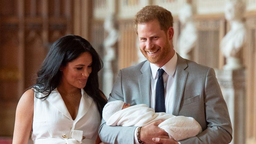 Herzogin Meghan, Prinz Harry und Archie Harrison im Mai 2019