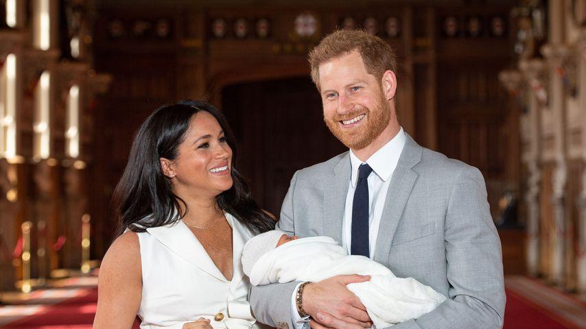 Herzogin Meghan mit Prinz Harry und ihrem Sohn Archie Harrison, Mai 2019