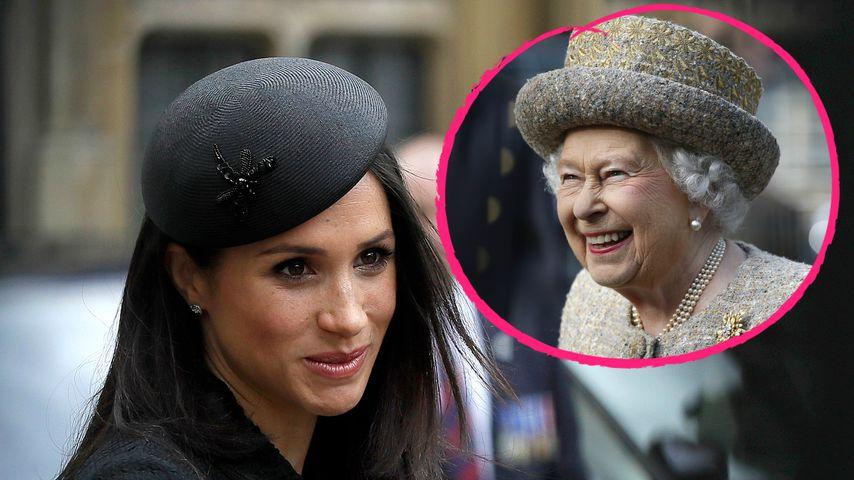 Nacht im Privatzug der Queen: Große Ehre für Herzogin Meghan