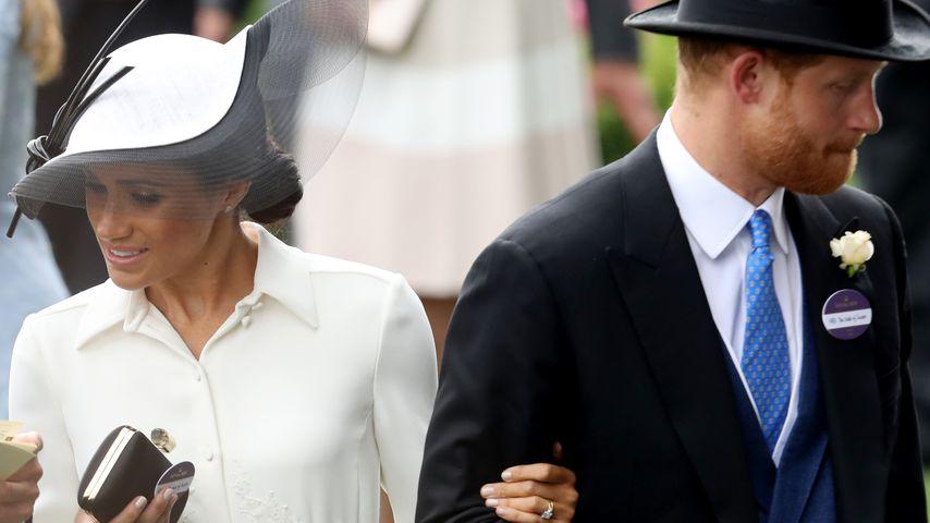 Herzogin Meghan und Prinz Harry beim Pferderennen in Ascot 2018