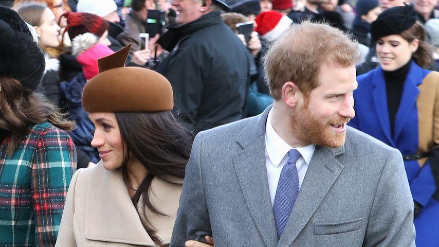 Herzogin Meghan und Prinz Harry in Sandringham im Dezember 2017