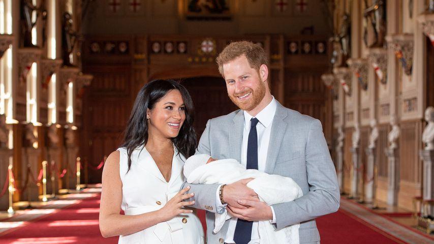 Herzogin Meghan, Archie Harrison und Prinz Harry im Mai 2019