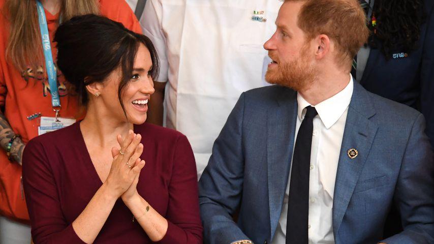 Herzogin Meghan und Prinz Harry bei einer Roundtable-Diskussion Oktober 2019