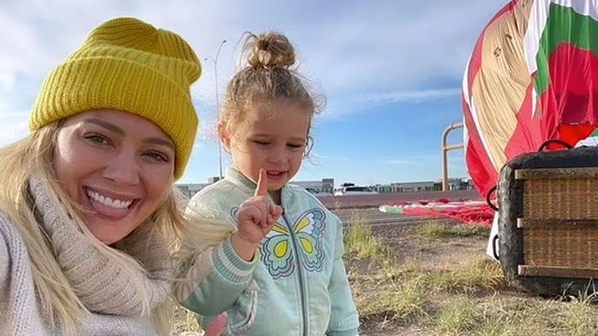 Ereignisreiche Ballonfahrt für Hilary Duff und Tochter Banks