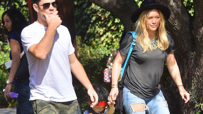 Hilary Duff, Luca Comrie und Mike Comrie