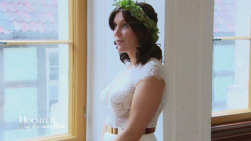 """""""Hochzeit auf den ersten Blick""""-Kandidatin Lisa an ihrem Hochzeitstag"""