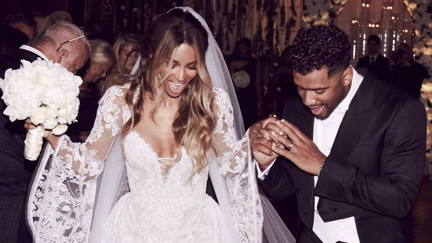 Sängerin Ciara und Ehemann Russell Wilson