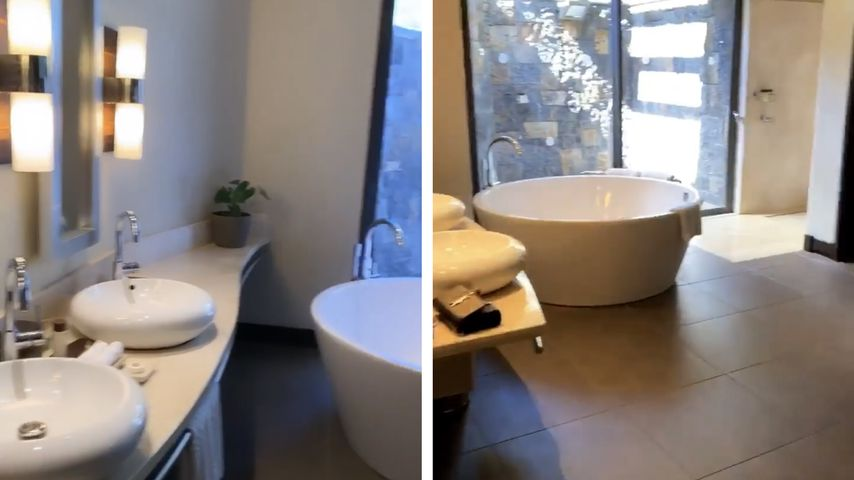 Hotelzimmer von Angelina Heger und Sebastian Pannek