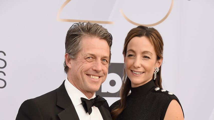 Hugh Grant und Anna Eberstein im Januar 2019