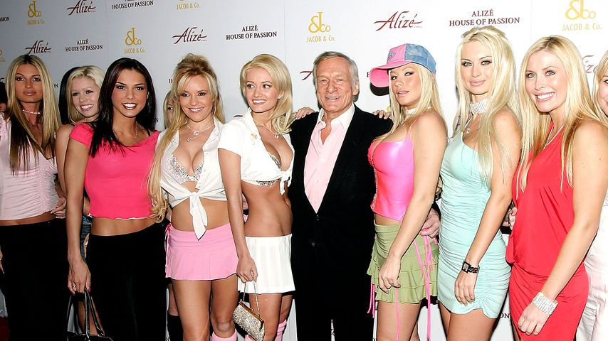 Hugh Hefner bei einer Playboy-Party 2004